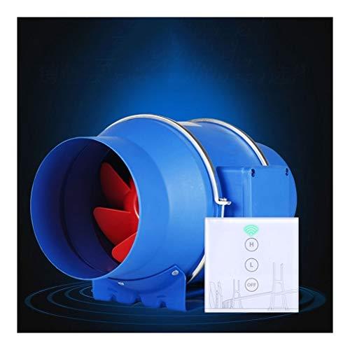 Ventilador de ventilación doméstico Extractor En Línea,Ventilador De Conducto Extractor En Línea, con Control Remoto Inalámbrico Durable 6 Pulgadas For Baño/Cocina/Inodoro/Industrial LITING