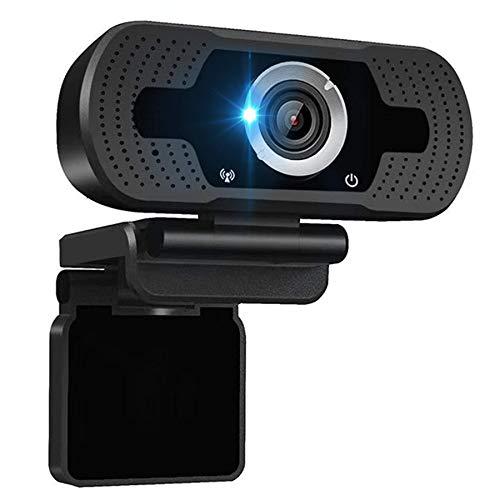 TANTAO Webcam mit Mikrofon, 1080 HD Business Webkamera Für PC Laptop Kamera, Streaming, Widescreen Videoanruf und Aufnahmeunterstützung für Konferenze