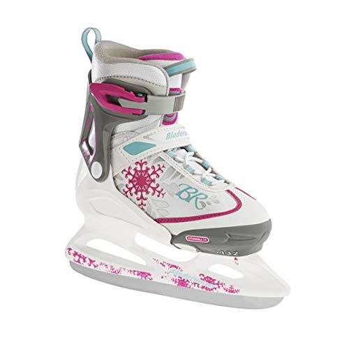 Rollerblade Bladerunner Ice Micro Ice Girls, Junior, Adjustable, White and Pink, Ice Skates