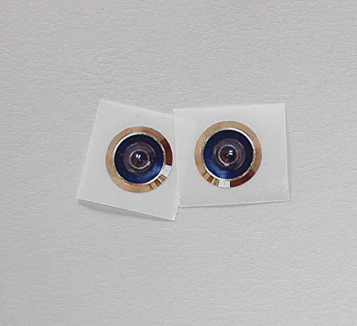 2 Mirillas. Pegatinas simulado una mirilla. Miden 2 cm de diámetro.