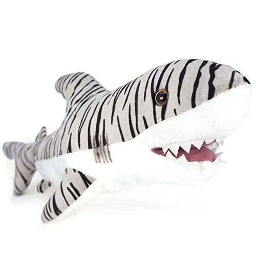 VIAHART Sheila The Tiger Shark   1 1/2 Foot Long Stuffed Animal Plush   by Tiger Tale Toys -  760625606925