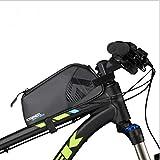 Roswheel 自転車 ナイロンバッグ 防水 MTB ロード マウンテン バイク トライアングル バッグ 多機能 バイク 修理ツール バッグ トップチューブ フレーム バッグ (0.9L)