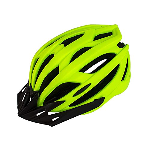 Casco de Bicicleta para Adultos Casco de Ciclismo MTB para Hombre y Mujer en Montaña Carretera Herramienta Protectora de Bicicletas Casco Ajustable Ligero Seguro con Luz (Amarillo , Talla única)