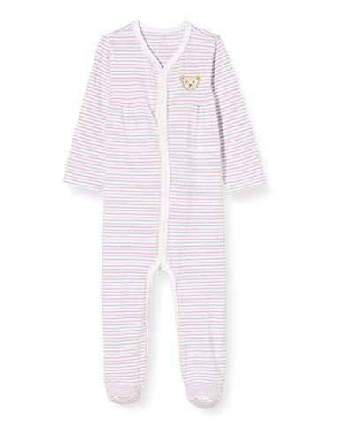 Steiff Baby-Mädchen Strampler, Weiß (Bright White 1000), 74 (Herstellergröße: 074)