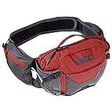 EVOC Sports GmbH Hip Pack Pro 3l + 1, 5l Bladder Riñonera, Unisex Adulto, Gris y Rojo, Talla única