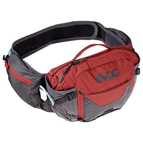 EVOC HIP PACK PRO 3l Hüfttasche Bauchtasche für Bike-Touren & Trails (28 x 18 x 8 cm, 3l Stauraum, AIRFLOW CONTACT SYSTEM, AIRO FLEX Hüftgurt, 1,5l Trinkblase)