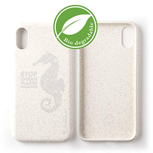 Wilma Umweltfre&liches, biologisch abbaubare Handy Schutzhülle Kompatibel mit iPhone XR, Stop Meeres Plastik Verschmutzung, Kunststoff-frei, ungiftig, Vollschutz Hülle - Matt Seepferdchen