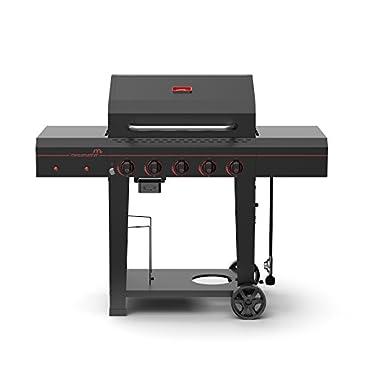 Megamaster 720-0982 Propane 5 Burner Gas Grill, Black