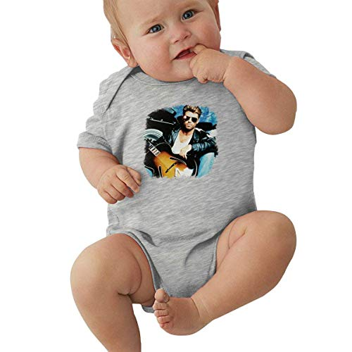 shuangshao liu George Michael Kleines Kind Unisex Soft Baby Unterwäsche Kurzarm 0-24 Monate Schwarz