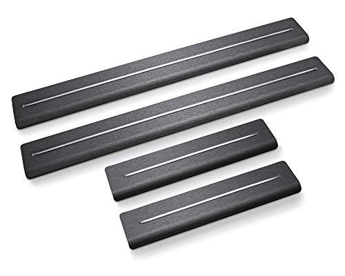 Einstiegleisten Polo VI-gen. AW ab 2018, Schrägheck,5 Türen.Design Long Line. (Satin Black & White)