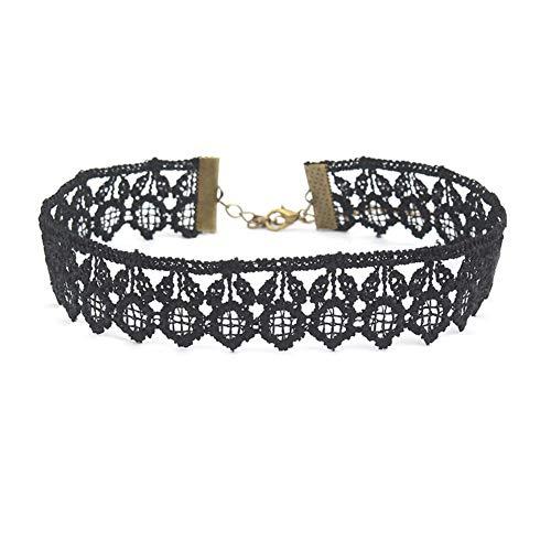 AMAZYJ - Juego de Collar con Colgante de Girasol Boho Hecho a Mano para Mujeres y niñas, Black Choker Necklace