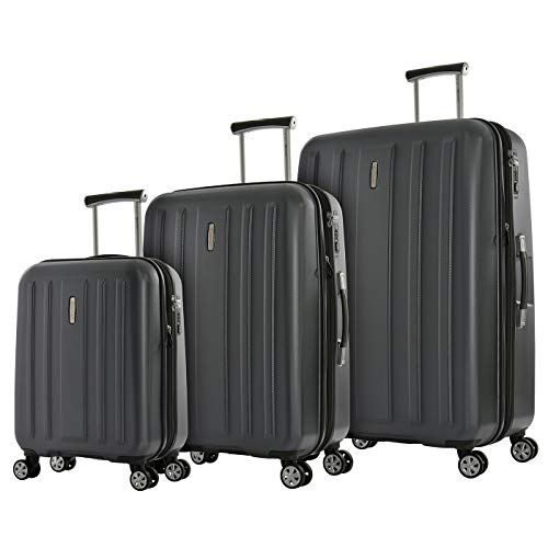 Eminent Koffer-Set Kapstadt V EXP 3-teilig 1x Handgepäck Koffer Gr. S 1x Koffer Hartschale Größe M + L Erweiterbar Anti-Kratz-Hartschake 4 Doppelrollen 360°...