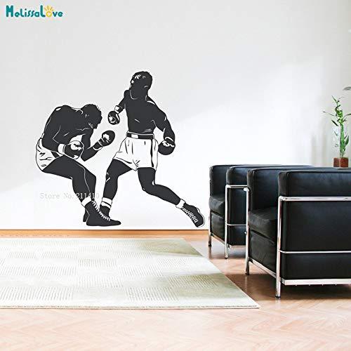 Boxkampf Wandtattoo Boxer Brave Man Sport Match Boxsack Dekoration Wohnzimmer Removable Art Murals 94x84cm
