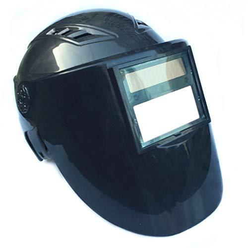 JHEY Schweißhelm Helmtyp Blendfreier automatischer Verdunkelungsschutz Schweißmaske Schweißoberfläche Bildschirm Verdunkelungsschutz Einstellbare Dunkelheit (Color : Black)