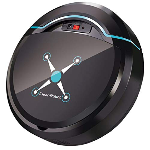 Staubsauger Roboter, Roboterstaubsauger USB Home Automatisches Vakuum Roboter Saugroboter Staubsauger Smart Bodenreinigungsroboter Staubsaugerroboter (Schwarz)