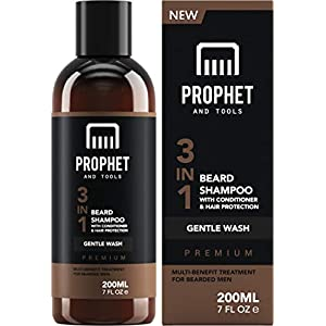 PREMIUM 3-in-1 Beard Shampoo with Conditioner & Facial Hair Protection Treatment For Men ! Gentle Wash Leaves Your… 2