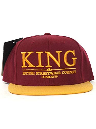 King Apparel Maroon / Gold Krest Select King Apparel Starter Snapback Casquette de baseball Taille Réglable