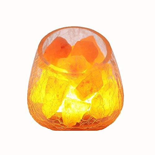Lámpara de sal de cristal Himalaya natural Lámpara de sal de la salida de la sal de la salida negativa que purifica el aire utilizado para el escritorio, el dormitorio, la sala de estar y el regalo