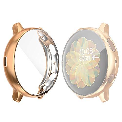 YANTAIAN para la Galaxia de Samsung del Reloj Activo 2 44mm Sombrero-Prince Caso de TPU electrochapa Cobertura Completa (Color : Rose Gold)