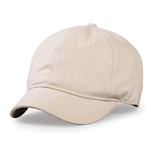Gorra de béisbol de color sólido con ala pequeña, sombrero para el sol de verano para hombres y mujeres, gorra ecuestre de ocio al aire libre, gorras deportivas de gran tamaño, 55-63 cm (beige)