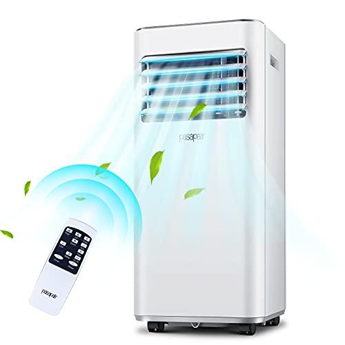 Aires acondicionados móvil-pasapair 3 en 1 Refrigeración,ventilación,deshumidificación|9000BTU/h para habitaciones de hasta 26㎡|Pantalla LED|Mando a distancia|24h-Temporizador|Kit de ventana|R290