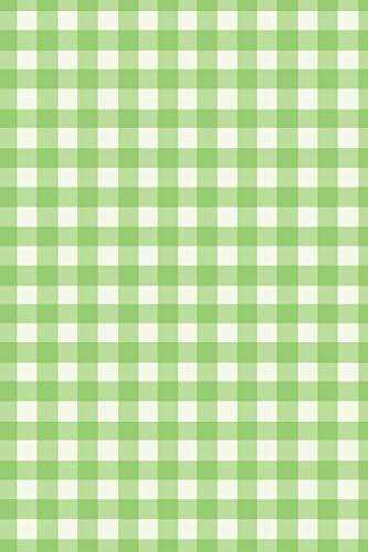 Green Gingham Pattern Journal, Notebook - 6