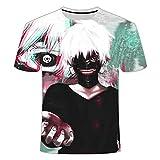 Tokyo Ghoul Camisetas 3D Camiseta Anime Camiseta Hombres Camiseta de Gran tamaño Camiseta Divertida Moda-C_XXS