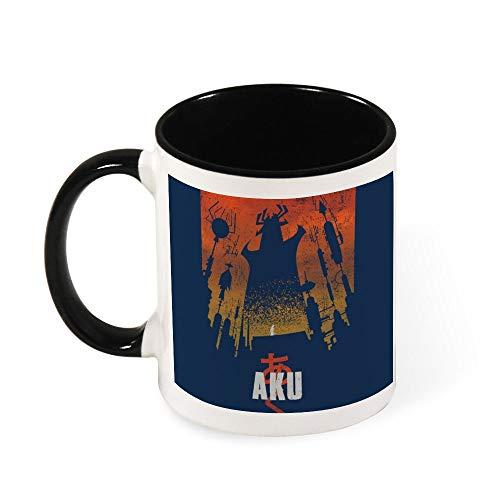 Akaiju Samurai Jack Aku Taza de café de cerámica, regalo para mujeres, niñas, esposa, mamá, abuela, 325 ml