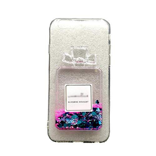 La mejor funda de botella de perfume líquido 3D para iPhone 8, 7, 6S, 6 Plus y 5 5S TPU Carcasa de silicona para iPhone 11 Pro XS Max X XR Funda de silicona para iPhone 8 Plus