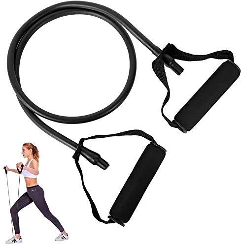 YUJIAN Bandas de resistencia para ejercicio con mango de espuma para entrenamiento de fuerza elástica para equipo de gimnasio en casa, bandas elásticas con anclaje para puerta.