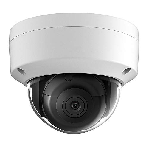 UltraHD 8MP 4K Outdoor Security PoE IP Camera with 2.8mm Fixed Lens, 3840×2160 Resolution Dome Network Surveillance Camera, 30m Night Vision, Micro SD Card Slot H.265+,IP67,IK10