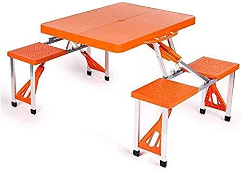 Mesa de picnic al aire libre Balcón al aire libre Jardín Camping Mesa y silla Portátil Kit de mesa de ocio salvaje Mesa plegable de playa (3 colores disponibles) (Color: Azul, Tamaño: L * W * H: 134 *