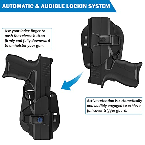 Paddle Holsters for Springfield XD-S 3.3'' Pistol, OWB Holster for Springfield XDS / XDS Mod.2 9mm/.40/.45 3.3
