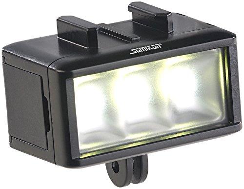 Somikon Unterwasserlampe: Unterwasser-LED-Licht für Action-Cams, 360 lm, 3 W, 900 mAh-Akku, IPX8 (Unterwasserbeleuchtung)