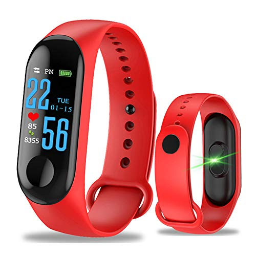 YOUANG Pulsera inteligente de 0,96 pulgadas con pantalla táctil a color, impermeable, monitor de actividad física, monitor de presión arterial, frecuencia cardíaca, banda inteligente