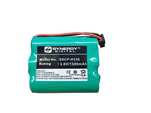 Panasonic P-P504 Cordless Phone Battery Ni-MH, 3.6 Volt, 1500 mAh - Ultra Hi-Capacity - Replacement for Panasonic HHR-P505 Rechargeable Battery