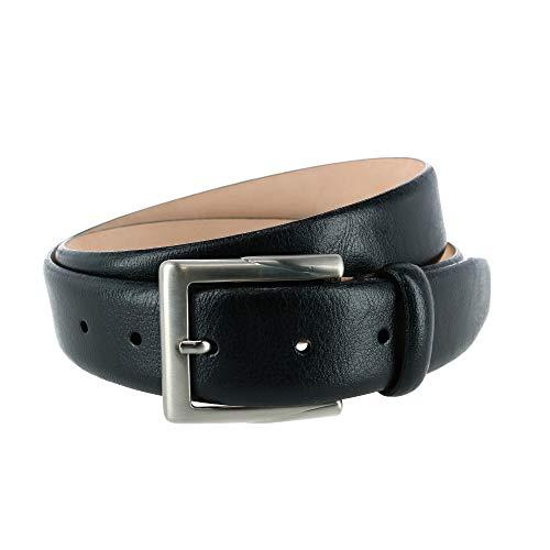 Trafalgar Rafferty - Cinturón de piel italiana para hombre (35 mm) - negro - 38