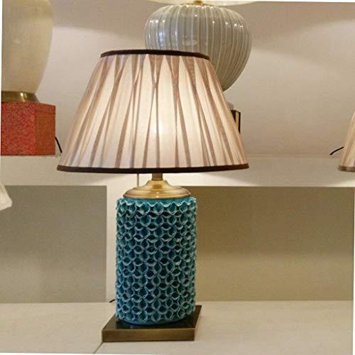 Tischlampe Schreibtisch Keramik Tischlampe - American Country Wohnzimmer gehobene Hotelvilla Modellzimmer Keramik Parkett Tischlampe (Farbe: A)