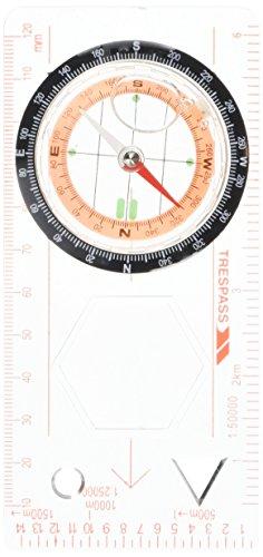 Trespass Vastra, kompass med förstoringsglas, millimeterlinjal, 1:50 000 skala & 1:25 000 skala