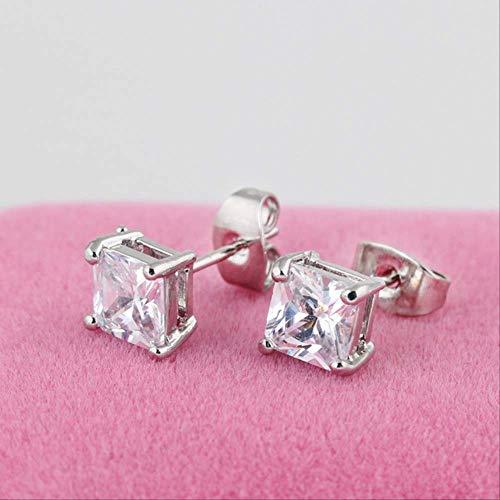 Pendiente para mujer Establece los aros de los pendientes del Rhinestone de piedra para mujeres Pendientes Granate boda pendientede plata
