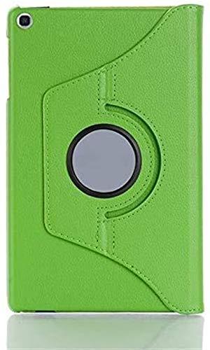 XXY Accesorios De Pestañas para Samsung Galaxy Tab a 10.1 T510 T515, Stand PU Cuero 360 Cubierta De Rotación para SM-T510 SM-T515 10.1'Cubierta + Película + Pluma (Color : Green)