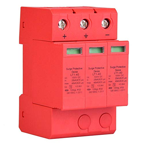 Überspannungsschutz, Überspannungsschutzgerät 3P mit 3,0 kV Gleichstrom für Blitzschutz, 35 mm DIN Schienen Montage(3p40ka)