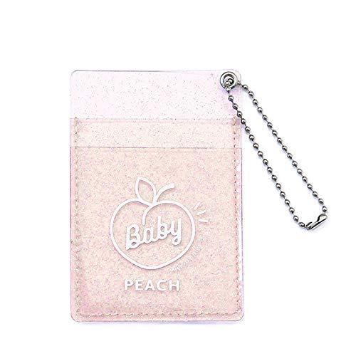 Huaheng Transparant Kaarthouder Star Glitter Design Handtas met Lanyard voor Vrouwen Meisje Outdoor Reizen roze
