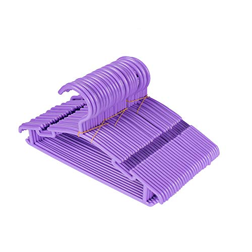 ALDIS 30 Pack Plastic Childrens Hangers Baby Hangers Kids Hangers Toddlers Hangers for Laundry and Closet Purple