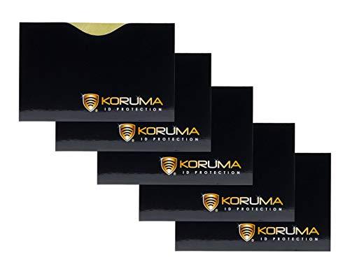 Koruma protection KUK-87HBLG - Porta carte di credito/debito con sistema che blocca i segnali RFID/NFC, confezione da 5
