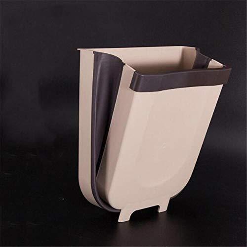 LCZMQRCLMZRQ Prullenbak voor aan de muur opvouwbaar badkamer toilet Prullenbak opbergkast voor keukenkast Hangende prullenbak, geel, S 5L