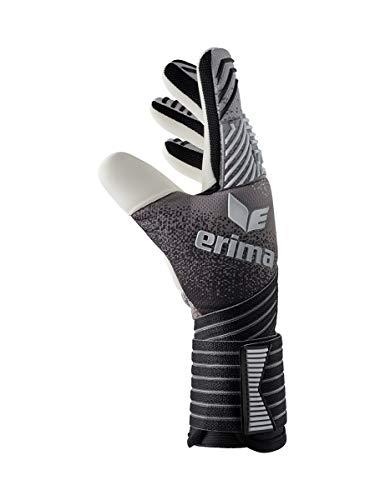 Erima Erwachsene Flex RD Pro Torwarthandschuhe, schwarz/Grau/Weiß, 7 - 2