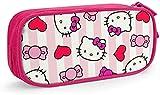 Hello Kitty Astuccio portapenne grande capacità matita doppia cerniera cancelleria organizzatore cancelleria borsa cosmetica blu-rosa