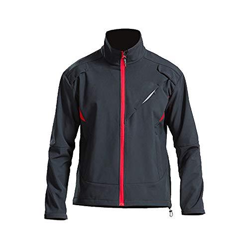 Fitsund Herren Fahrradjacke Langarm Radjacke Herbst Mountainbike Jacket (L, Rot-Schwarz)