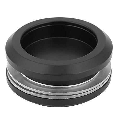 Svart aluminiumlegering rund glas skjutdörr handtag skåp knapp möbel dra